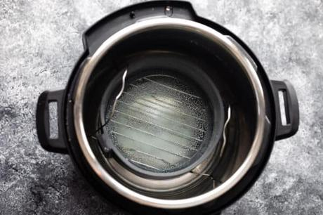instant pot with trivet and cake pan
