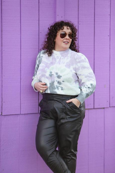 Tie-Dye Sweater and Faux Leather Joggers