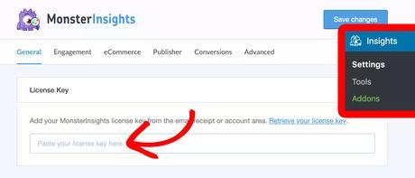 monsterinsights license key verification