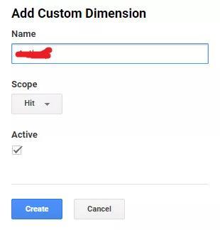dimension name