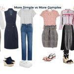 do you prefer more simple or complex outfits