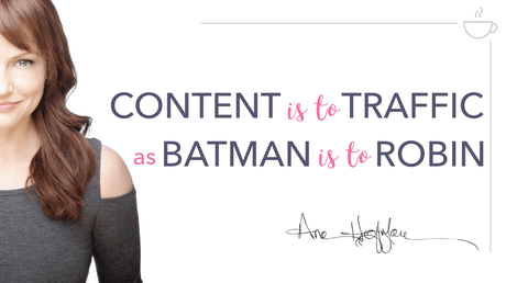 Ana Hoffman on Content and website traffic