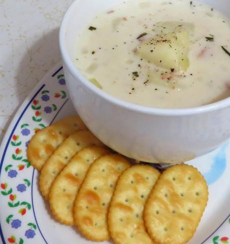Slow Cooker Potato & Ham Chowder