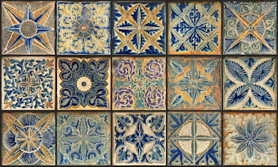 On the tiles at Doulton Lambeth