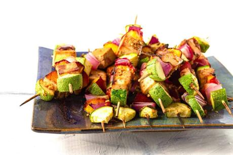 Tofu Skewers with Ginger Soy Marinade