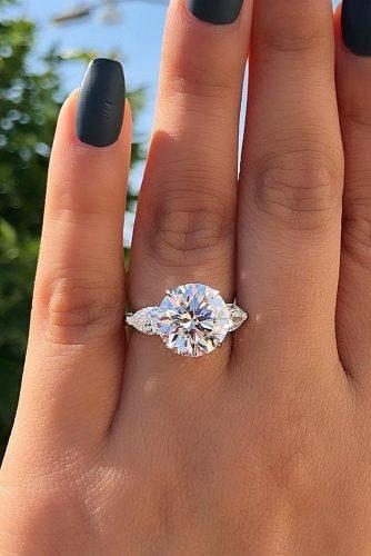 engagement ring trends 2019 solitaire white gold round cut diamond