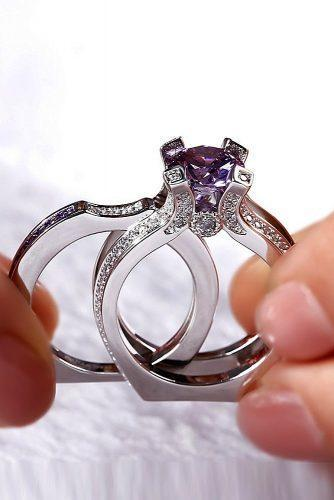 engagement ring trends 2019 white gold set gemstone unique