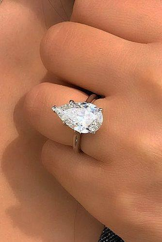 engagement ring trends 2019 pear cut diamond solitaire