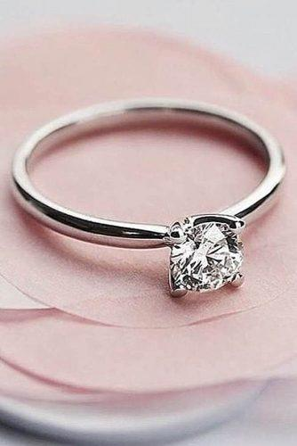 engagement ring trends 2019 simple classic solitaire diamond gold