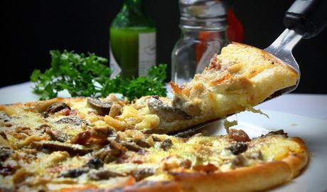Image: Delicious pizza slice, by Joshuemd on Pixabay