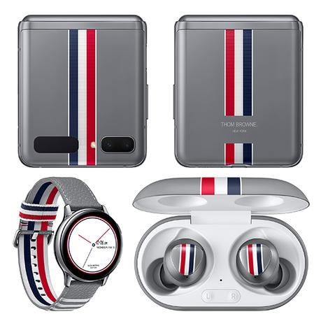 Sold Out Samsung's Galaxy Z Flip Announces  Collaboration With Thom Browne & LINGWU