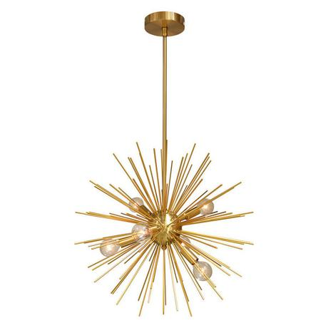 Galaxy 6-Light Pendant, Gold and Vintage Bronze Finish
