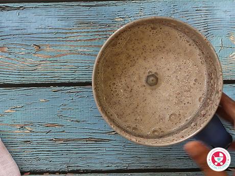 Ragi Milk Porridge for babies