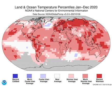2020 Was Tied for the Hottest Year on Record