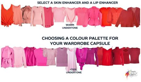 Wardrobe Capsule Colour Scheme - skin and lip enhancers