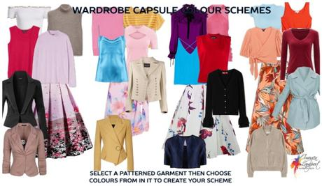Wardrobe Capsule colour scheme selection - build it around a patterned garment