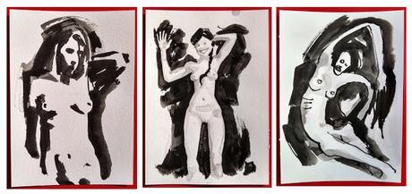 Ink Drawings - Nudes