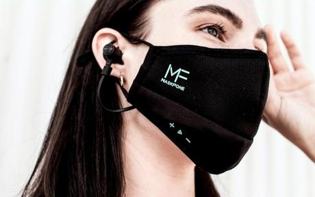 MaskFone: The World's First Athletic Face Mask with Integrated Earbuds
