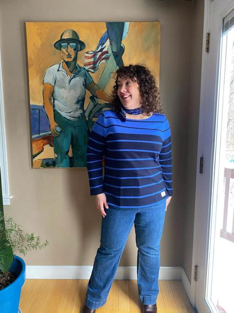 Talbots Breton and Flare Jeans