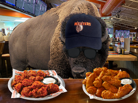 Hooters:  pre-order $60+ of food for the Big Game on Sunday