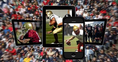 Image: American football live-streamed on smartphones and tablets. Photo by Gerd Altmann on Pixabay