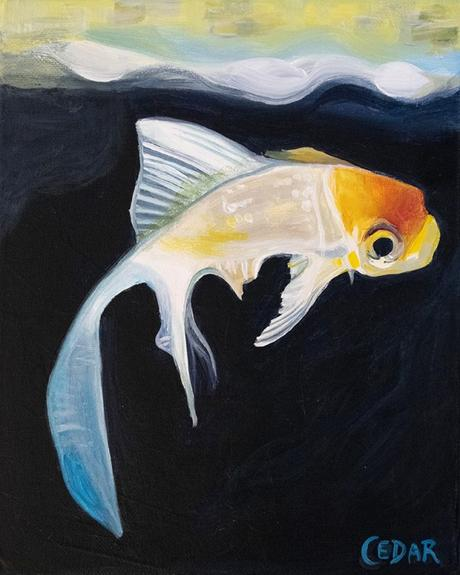 A little painting of a fish named Sol