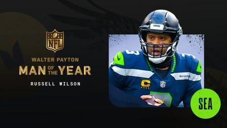 Russell Wilson Named NFL's Walter Payton Man Of The Year