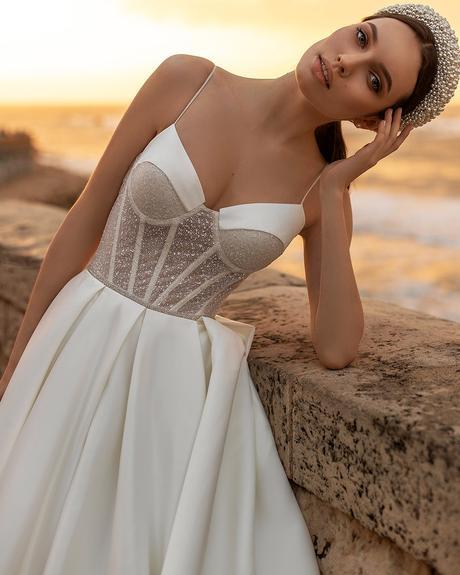 pollardi fashion group bridal dresses sweetheart strapless neckline sexy ida torez sensuality