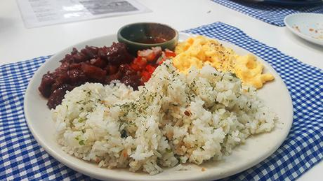 tocino rice meal