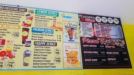 Happythirstday menu 2