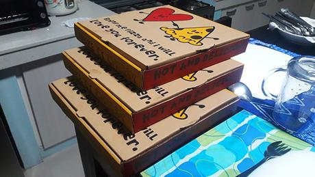 boxes of pizza
