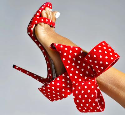 Shoe of the Day   Aminah Abdul-Jillil V-Day Limited Edition Bow Sandals