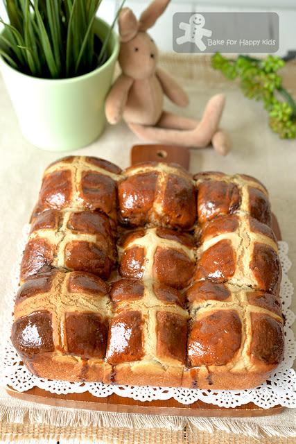super soft chewy mocha coffee chocolate chip hot cross buns