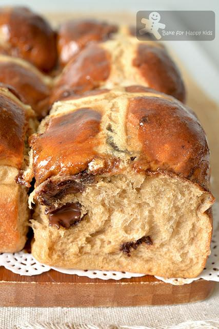 Super Soft Chewy Mocha Coffee Hot Cross Buns