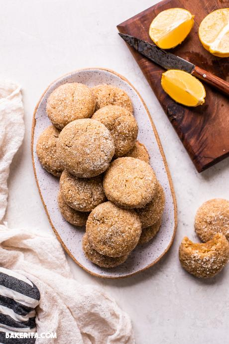 Gluten-Free Vegan Lemon Cookies