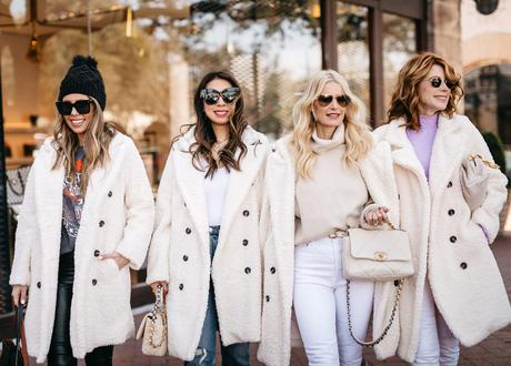 Chic at Every Age // Ways to Wear a Winter White Coat