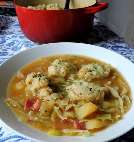 Winter Vegetable Soup with Cheese Dumplings