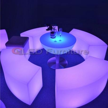 Beauty Salon Chair 16color Changing RGB LED Furniture