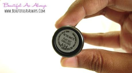 MAC Flat out Fabulous Lipstick Review and Swatch