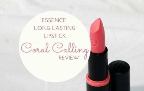 Essence Long Lasting Lipstick Coral Calling Review , Swatch , Price and Buy in India