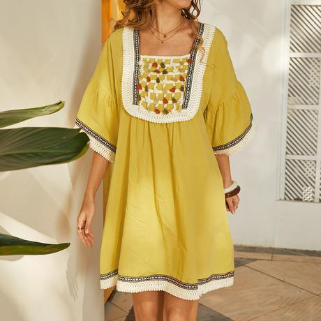 Bohemian Lace Patchwork Dress