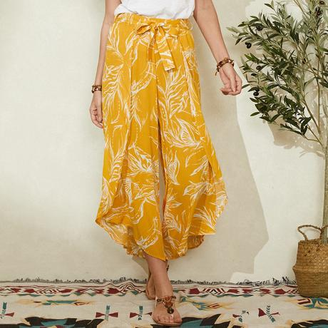 Bohemia Print Knotted Loose Casual Pants For Women