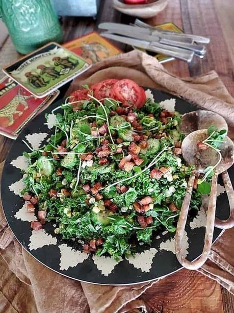 Pancetta Breakfast Salad