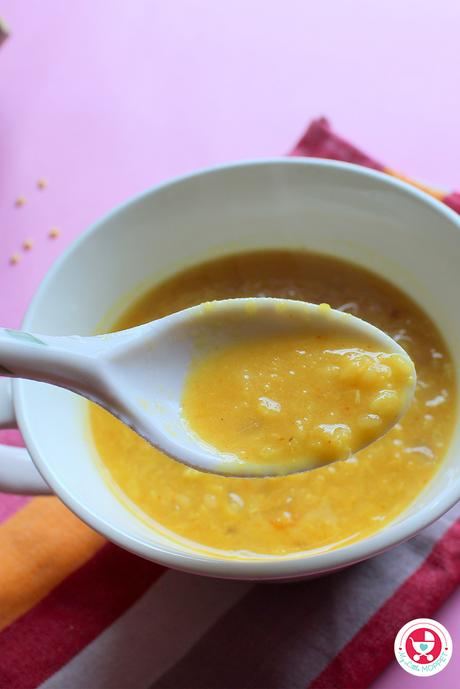 Pumpkin Mung Dal Porridge Recipe