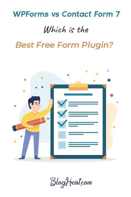 WPForms vs Contact Form 7 - Which is the Best Free Form Plugin? - Pinterest Image