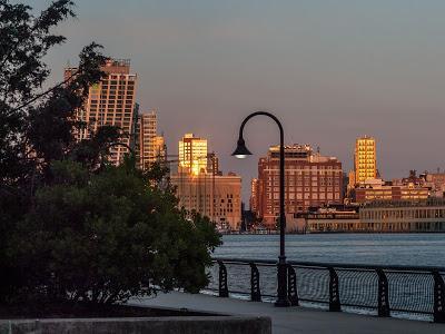 Manhattan from Hoboken at dusk