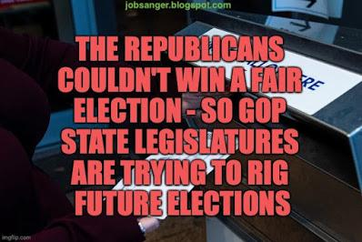 GOP Lost Fair Election - So They're Rigging Future Elections