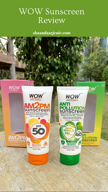 Wow Skin Science AM2PM & Anti-Pollution Sunscreen Lotion: Review