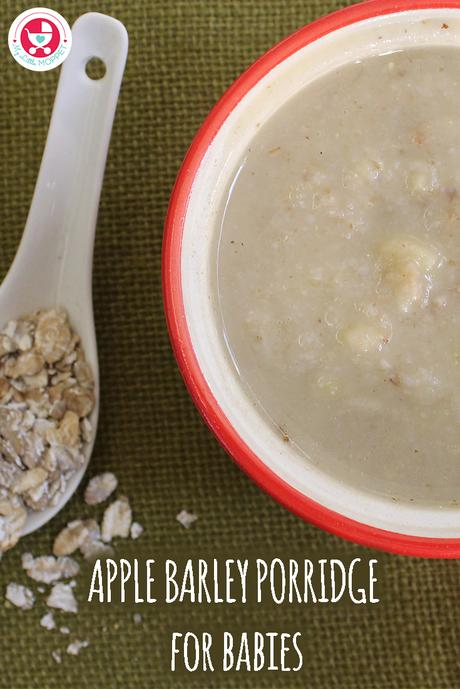 Apple Barley Porridge proves to be a power packed recipe which keeps the baby's tummy filling and also adds more health benefits!