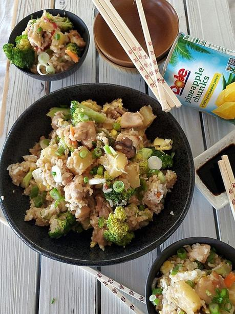 Chinese Stir Fry Rice & Pineapple
